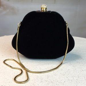 Handbags - Black Velvet Evening Bag